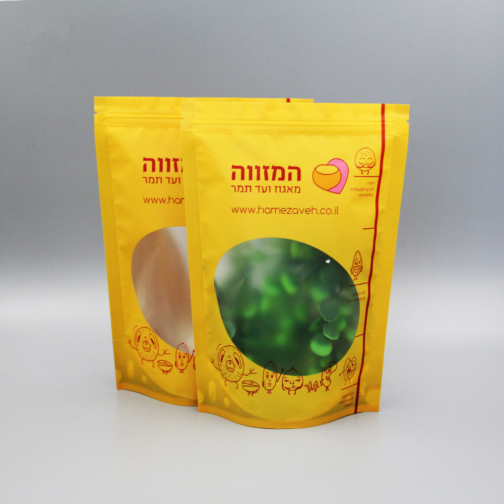 Wholesale  Resealable Transparent  Stand Up Zip Lock Plastic Bags for food packaging