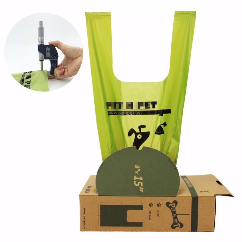 Customized Biodegradable Plastic Dog Poop Waste Tr