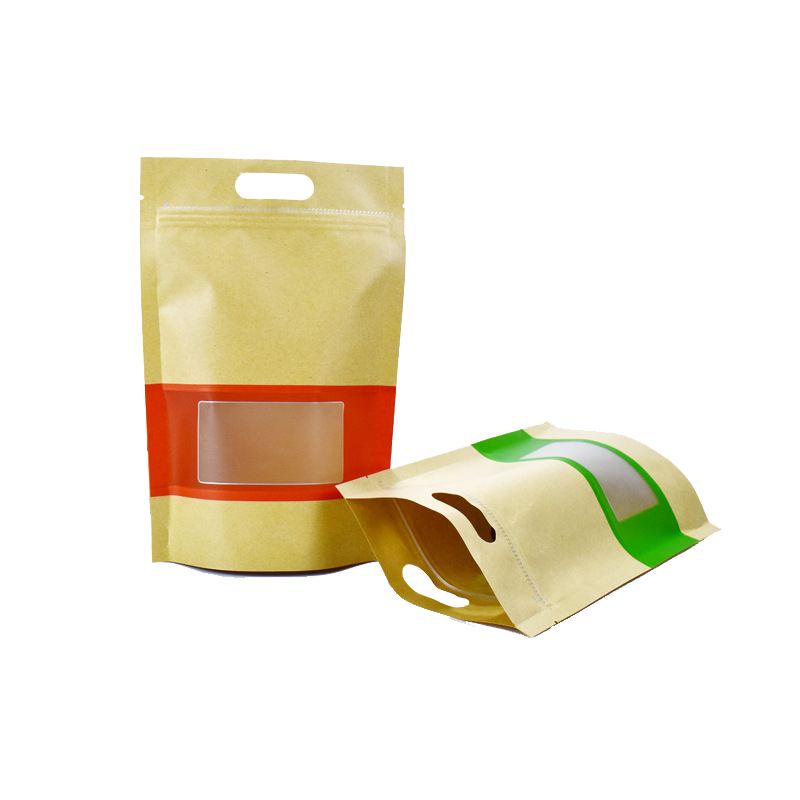 Hot sale three sided heat seal food storage  kraft