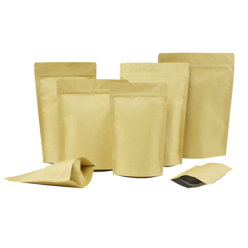 Factory direct kraft paper stand up bag for coffee