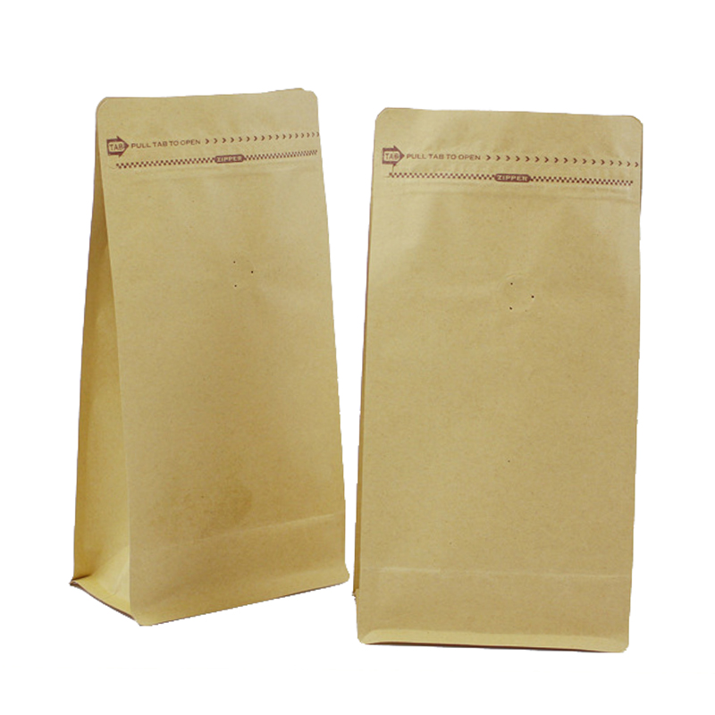 Eight-edge seal design stand up kraft paper ziploc