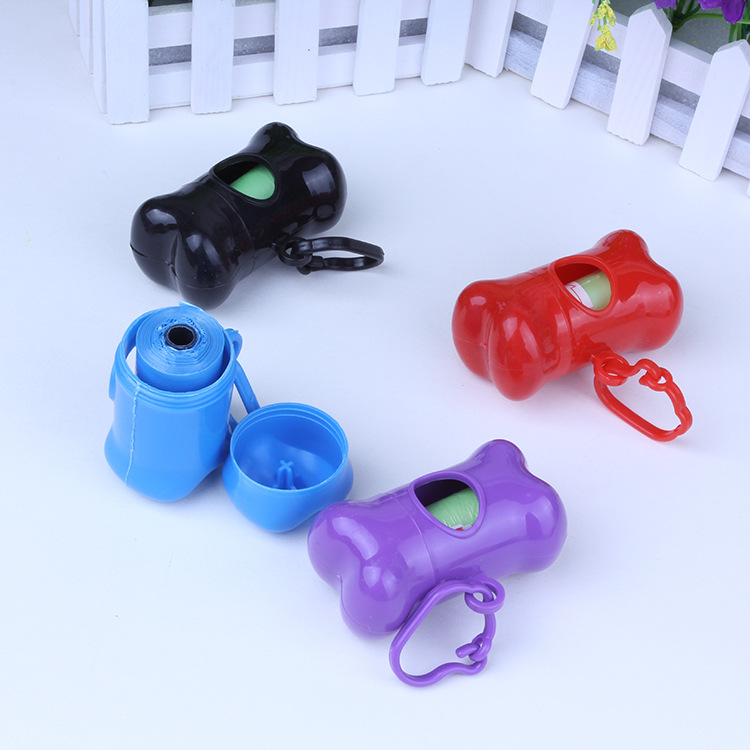 Customized Fashion Plastic Bone Shape Dog Poop Was