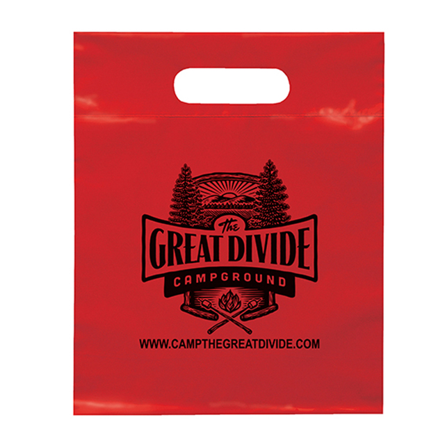 Factory direct frosted die-cut handle shopping bag
