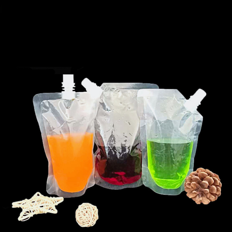 Transparent nozzle self-supporting bag soy milk te